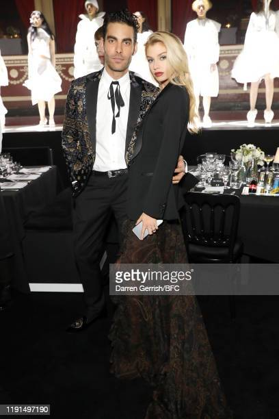 Jon Kortajarena and Stella Maxwell attend The Fashion Awards 2019 after party held at Royal Albert Hall on December 02 2019 in London England
