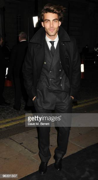 Jon Kortajarena arrives at the UK film premiere of 'A Single Man' at the Curzon Cinema Mayfair on February 1 2010 in London England