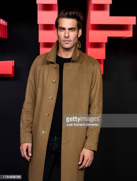 Jon Kortajarena attends the red carpet during the Netflix presentation party at the Invernadero del Palacio de Cristal de la Arganzuela on April 4...