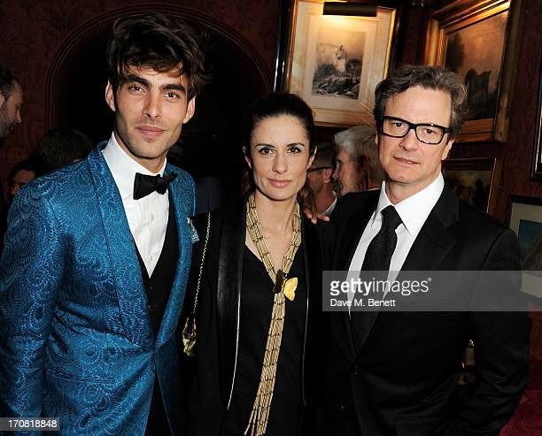 Jon Kortajarena Livia Firth and Colin Firth attend the TOM FORD Mens Grooming Collection launch at Mark's Club on June 18 2013 in London England
