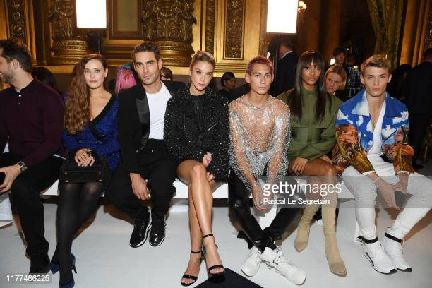 Jon Kortajarena María Pedraza Evan Mock Jourdan Dunn and guest attend the Balmain Womenswear Spring/Summer 2020 show as part of Paris Fashion Week on...