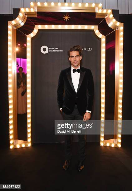 Jon Kortajarena wearing Bulgari attends CLUB LOVE for the Elton John AIDS Foundation in association with BVLGARI on November 29 2017 in London England