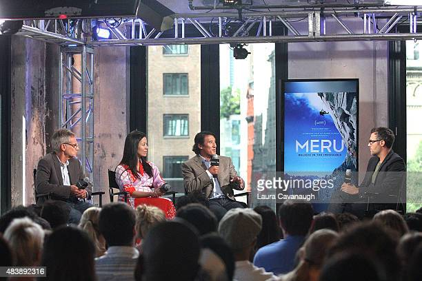 Jon Krakauer E Chai Vasarhelyi Jimmy Chin and Ricky Camilleri attend AOL Build Presents MERUat AOL Studios In New York on August 13 2015 in New York...