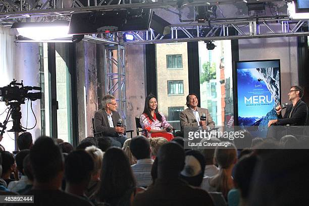 "Jon Krakauer, E. Chai Vasarhelyi, Jimmy Chin and Ricky Camilleri attend AOL Build Presents: ""MERU""at AOL Studios In New York on August 13, 2015 in..."