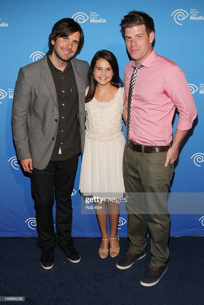 Jon Lajoie, Bailee Madison and Stephen Rannazzisi attend the Time Warner Cable Media 'Cabletime' Upfront at Yotel Hotel on June 7, 2012 in New York City.
