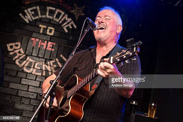 Jon Langford of The Mekons performs on stage at Brudenell Social Club on August 6, 2014 in Leeds, United Kingdom.