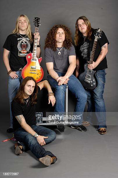 Jon Lawhon Ben Wells John Fred Young and Chris Robertson of the band Black Stone Cherry taken on June 19 2008