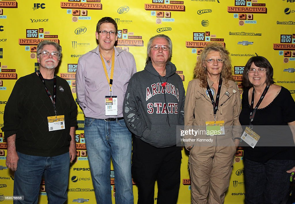 Jon Lebkowsky, Hugh Forrest, Bruce Sterling, Jasmina Tesanovika-Sterling and Marsha Lebkowsky at Bruce Sterling Closing Remarks during the 2013 SXSW Music, Film + Interactive Festival at Austin Convention Center on March 12, 2013 in Austin, Texas.