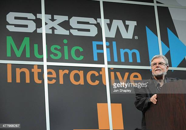 Jon Lebkowsky speaks onstage at Bruce Sterling Closing Remarks during the 2014 SXSW Music Film Interactive Festival at Austin Convention Center on...