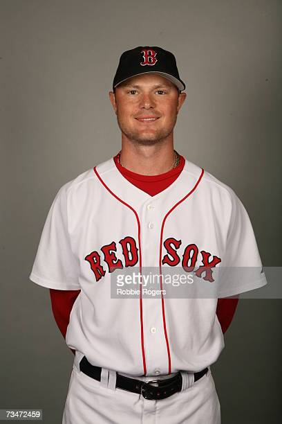 Jon Lester of the Boston Red Sox poses during photo day at City of Palms Park on February 24 2007 in Ft Myers Florida