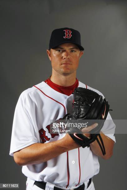 Jon Lester of the Boston Red Sox poses during photo day at the Red Sox spring training complex on February 24 2008 in Fort Myers Florida