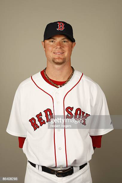 Jon Lester of the Boston Red Sox poses during Photo Day on Sunday February 22 2009 at City of Palms Park in Fort Myers Florida