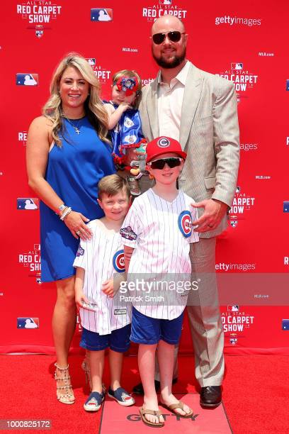 Jon Lester of the Chicago Cubs and the National League attends the 89th MLB AllStar Game presented by MasterCard red carpet at Nationals Park on July...