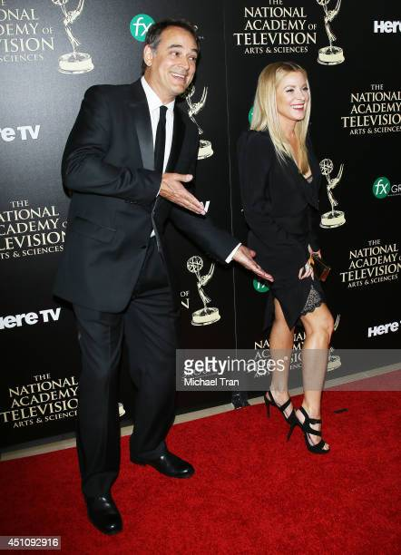 Jon Lindstrom and Cady McClain arrive at the 41st Annual Daytime Emmy Awards held at The Beverly Hilton Hotel on June 22 2014 in Beverly Hills...
