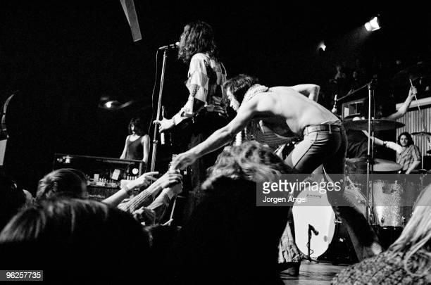 Jon Lord Ian Gillan and Ian Paice of Deep Purple perform on stage at KB Hallen on March 1st 1972 in Copenhagen Denmark