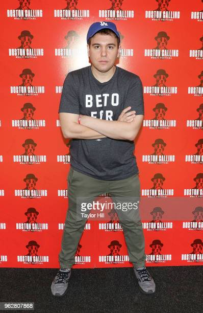 Jon Lovett of 'Pod Save America' poses backstage during Day 2 of 2018 Boston Calling Music Festival at Harvard Athletic Complex on May 26, 2018 in...