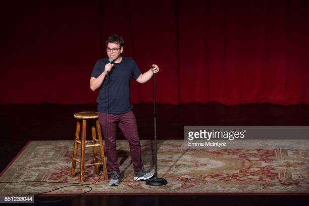 Jon Lovett performs onstage at Beef Relief a special benefit for the International Rescue Committee at Largo on September 21 2017 in Los Angeles...