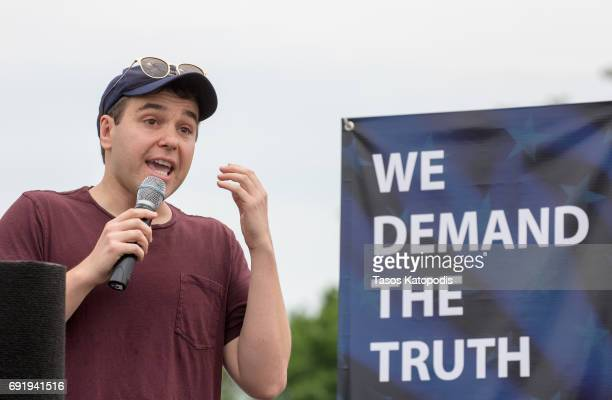 Jon Lovett speaks in the March for Truth Sends a Message Investigate Trump rally near the Washington Monument on June 3 2017 in Washington DC