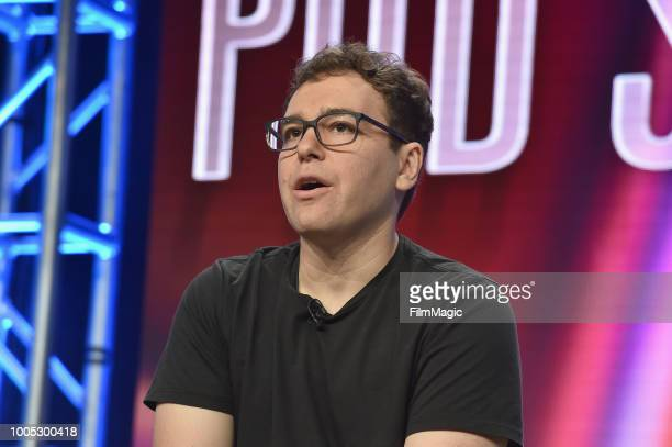 Jon Lovett speaks onstage at HBO Summer TCA 2018 at The Beverly Hilton Hotel on July 25 2018 in Beverly Hills California