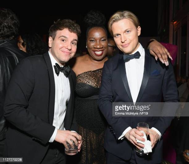 Jon Lovett Tarana Burke and Ronan Farrow attend the 2019 Vanity Fair Oscar Party hosted by Radhika Jones at Wallis Annenberg Center for the...