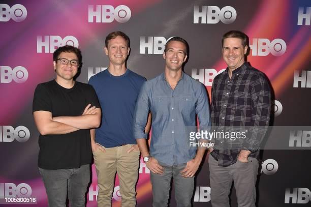 Jon Lovett, Tommy Vietor, Jon Favreau and Dan Pfeiffer attend HBO Summer TCA 2018 at The Beverly Hilton Hotel on July 25, 2018 in Beverly Hills,...