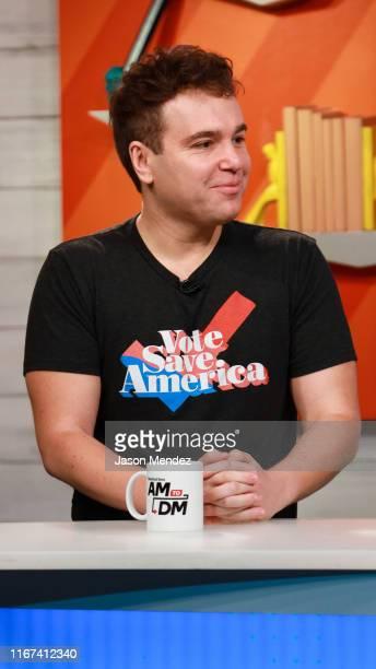 "Jon Lovett visits BuzzFeed's ""AM To DM"" on September 11, 2019 in New York City."