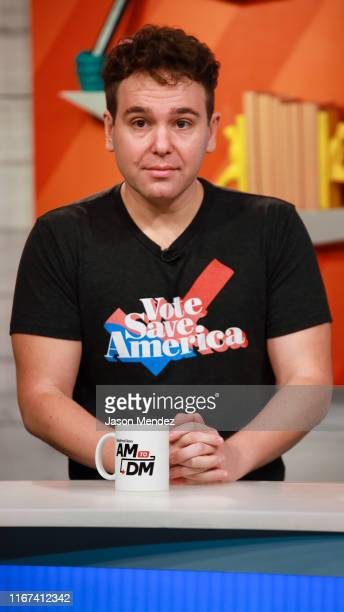 Jon Lovett visits BuzzFeed's AM To DM on September 11 2019 in New York City