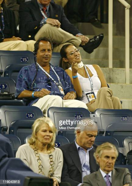 Jon Lovitz watches the Tatiana Golovin vs Maria Sharapova match at the 2006 US Open at the USTA Billie Jean King National Tennis Center in Flushing...