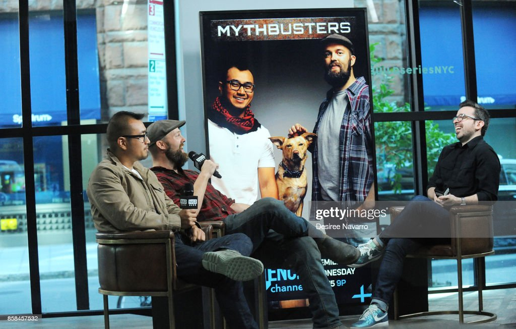 Jon Lung and Brian Louden visit Build to discuss 'MythBusters' at Build Studio on October 6, 2017 in New York City.