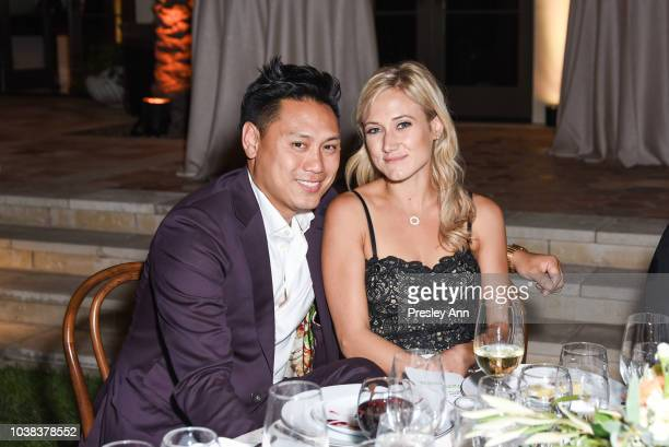 Jon M Chu and Kristin Hodge attend Film Independent Project Involve Gala at Private Residence on September 22 2018 in Los Angeles California