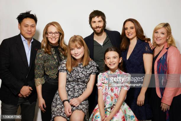 Jon M Chu Dana Fox Hilde Lysiak Jim Sturgess Brooklynn Prince Dara Resnik and Joy Gorman Wettels of Apple TV's Home Before Dark pose for a portrait...