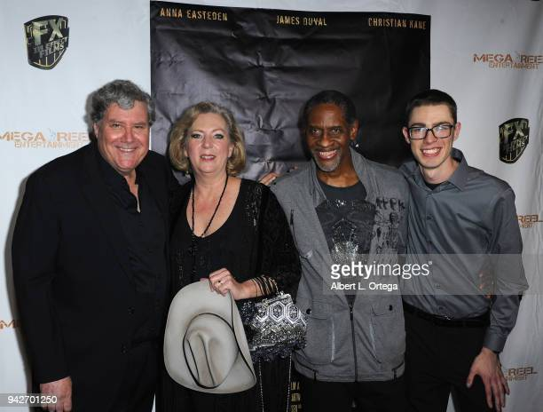 Jon Macht Deborah Hartwell Tim Russ and Jason F Knittle II arrive for the Los Angeles Premiere of 'Miles To Go' held at Writers Guild Theater on...