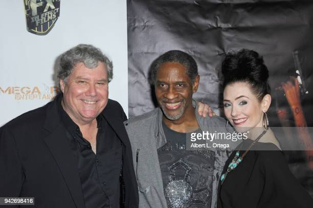 Jon Macht Tim Russ and Adrienne Wilkinson arrive for the Los Angeles Premiere of 'Miles To Go' held at Writers Guild Theater on April 5 2018 in...