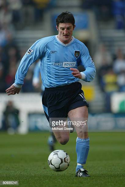 Jon Macken of Manchester City during the FA Barclaycard Premiership match between Bolton Wanderers and Manchester City at the Reebok Stadium on...