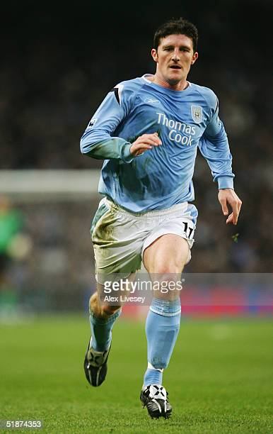 Jon Macken of Manchester City in action during the Barclays Premiership match between Manchester City and Tottenham Hotspur at the City of Manchester...