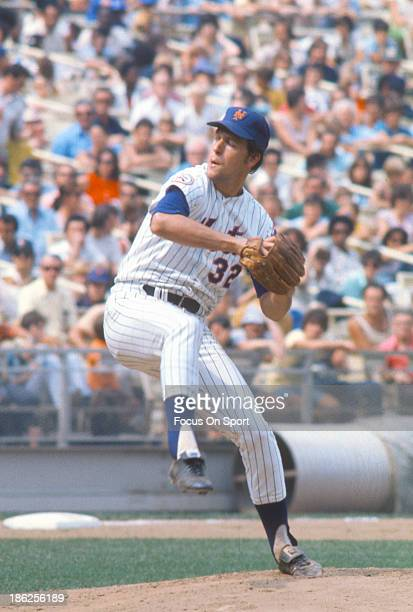 Jon Matlack of the New York Mets pitches during an Major League Baseball game circa 1976 at Shea Stadium in the Queens borough of New York City...