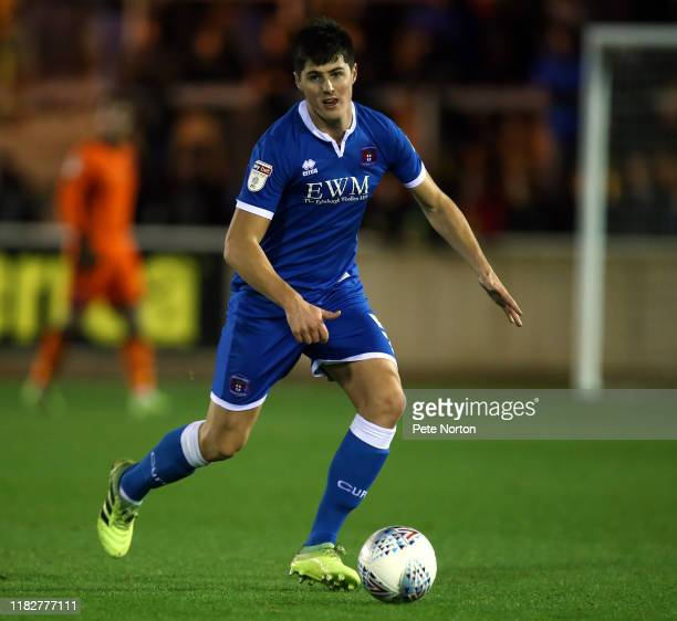 Jon Mellish of Carlisle United in action during the Sky Bet League Two match between Carlisle United and Northampton Town at Brunton Park on October...