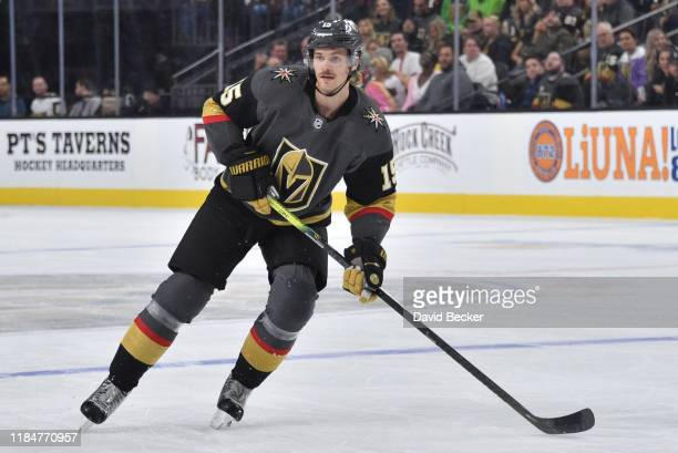 Jon Merrill of the Vegas Golden Knights skates during the third period against the Montreal Canadiens at TMobile Arena on October 31 2019 in Las...