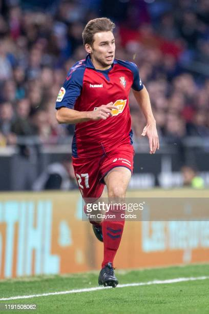 Jon Moncayola of Osasuna in action during the Espanyol V Osasuna La Liga regular season match at RCDE Stadium on December 1st 2019 in Barcelona Spain