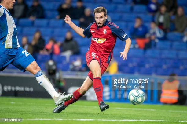 Jon Moncayola of Osasuna scores his sides third goal during the Espanyol V Osasuna La Liga regular season match at RCDE Stadium on December 1st 2019...