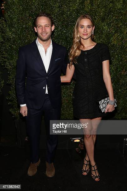 Jon Neidich and Alessandra Brawn attend the 2015 Tribeca Film Festival Chanel Artists' Dinner at Balthazar on April 20 2015 in New York City