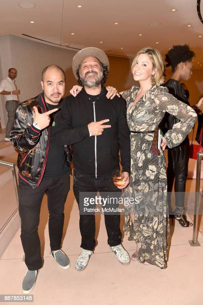 Jon Nguyen, Mr. Brainwash and Kristen Rich attend the After Party at Faena Forum on December 4, 2017 in Miami Beach, Florida.
