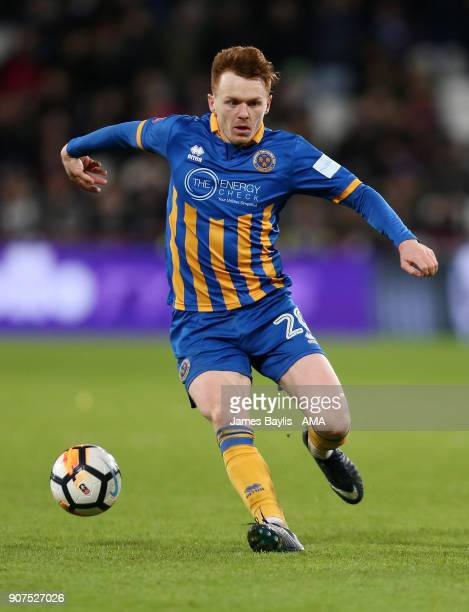 Jon Nolan of Shrewsbury Town during the Emirates FA Cup Third Round Repaly match between West Ham United and Shrewsbury Town at London Stadium on...