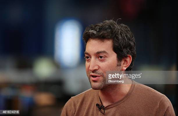 Jon Oringer billionaire and chief executive officer of Shutterstock Inc speaks during a Bloomberg Television interview in London UK on Friday Jan 16...