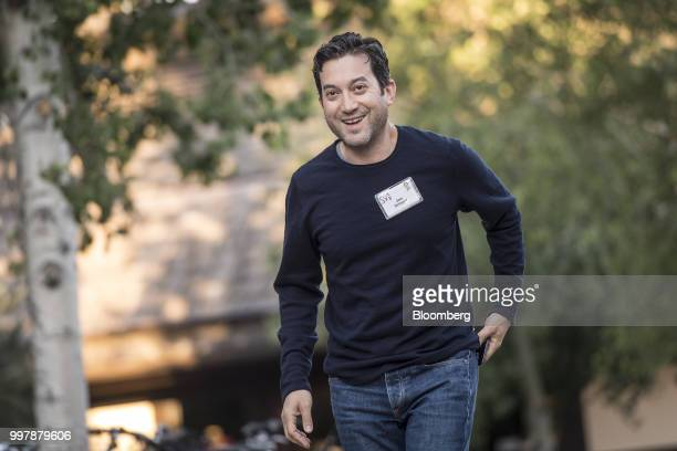 Jon Oringer chairman and chief executive officer of Shutterstock Inc arrives for a morning session at the Allen Co Media and Technology Conference in...