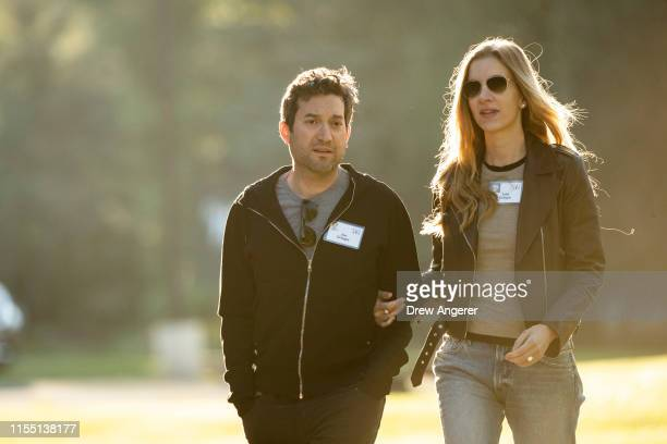 Jon Oringer chief executive officer of Shutterstock and Talia Orginer attend the annual Allen Company Sun Valley Conference July 11 2019 in Sun...
