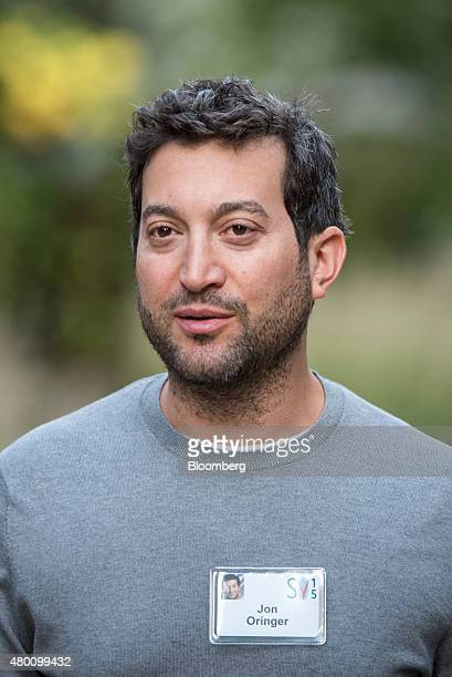 Jon Oringer founder of Shutterstock Inc arrives for a morning session during the Allen Co Media and Technology Conference in Sun Valley Idaho US on...
