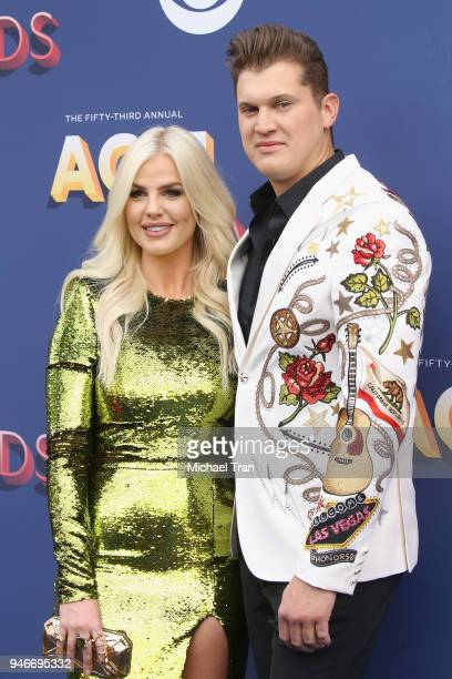 Jon Pardi and guest attend the 53rd Academy of Country Music Awards at MGM Grand Garden Arena on April 15 2018 in Las Vegas Nevada