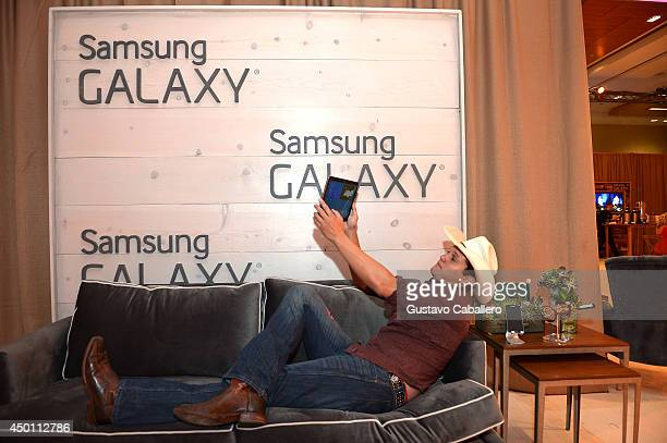 Jon Pardi at the Samsung Galaxy Artist Lounge at the 2014 CMA Music Festival on June 5 2014 in Nashville Tennessee