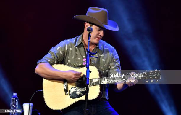 "Jon Pardi performs on stage during ""Stars and Strings Presented by RAM Trucks Built to Serve"" a RADIOCOM Event at the Fox Theatre on November 06 2019..."